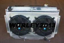 Aluminum radiator +Shroud +Thermo Fan for HG HT HK HQ HJ HX HZ V8 Chev engine MT