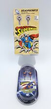 SUPERMAN Earbuds w/vintage profile & super hero chest logo By iHip. Set of 2.