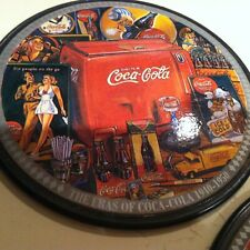 3 LOT Vintage Coca Cola Cork Collectible Coasters 4'' diameter USA 1940-1950's