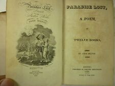 1820 PARADISE LOST John Milton EPIC POEM Biblical FALL of MAN Adam & Eve BOSTON