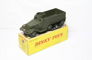 Dinky 822 M3 Half Track In Its Original Box - Very Near Mint 1st Issue 1960