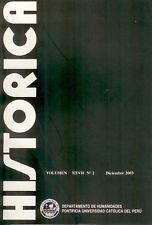 Revista Historica Peru Universidad Catolica XXVII (2) 2003