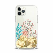 For iPhone 12 Pro Max Case 11 Mini SE Xr Xs 8 Plus 7 White Roses Flexible Print