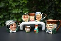 """Lot #7 Vintage Toby Jugs Japan - Marutomoware & Occupied Collection Mugs 2""""- 4"""""""