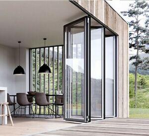 Wallshell Aluminum Bifold Door Patio Door Customer Size