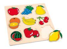 Puzzle en bois de médaillon de fruits - 9 pièces