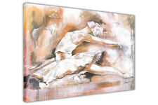 Ballet Dancer Oil Painting Re-Print on Framed Canvas Art Prints Wall Pictures