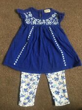Baby Girl NEXT 12-18 M Dress Top & Leggings Set Outfit Summer Clothes Vgc