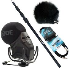 Rode Svmpr Stereo Videomic Pro Rycote Keepdrum Paquet Comprenant Pêche de Son
