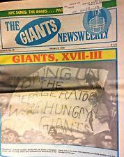 1986 The Giants Newsweekly Football Newspaper- Lot of 20 Magazines- New York