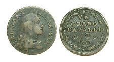 pci0500) Regno di Napoli- RRR- Ferdinando IV 1 Grano 12 cavalli 1789 var. punto