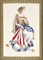 """COMPLETE XSTITCH MATERIALS WITH LINEN """"QUEEN OF FREEDOM MD64"""" by Mirabilia"""