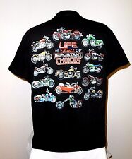 "NEW  ""LIFE IS FULL OF IMPORTANT CHOICES"" MOTORCYCLE T-SHIRT LG *L@@K*  NWOT"