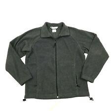 Columbia Women's Gray Jacket Fleece Full Zip Sweater Size Medium M Long Sleeve