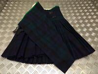 "Genuine British Army Old Pattern Issued Regimental Tartan Wool Pleated Kilt W29"""