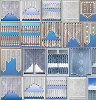 Scheibengardine Bistrogardine Jacquard Sets Küchengardine weiß bunt Panneaux