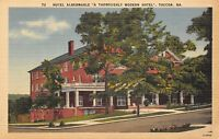 Toccoa Georgia 1940s Linen Postcard Hotel Albermarle Modern Hotel