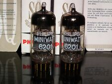 Philips 6201 (ECC81 12AT7) NOS matched pair (Made by Valvo in 1962) Gold Pins