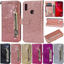 Glitter Wallet Leather Flip Cover Case For Huawei P30Lite Y7 2019 Y6 2019 Mate20