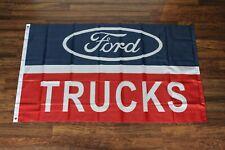 Ford Trucks Banner Flag 3x5 Garage Repair Shop Pickup Man Cave Ships from USA
