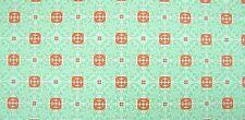 24x12 cm. (203,45EUR/m²) Bodenfliesen für Puppenhaus, weiß, grün-orange Muster