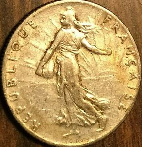 1918 FRANCE 50 CENTIMES SEMEUSE COIN