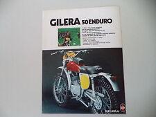 advertising Pubblicità 1976 MOTO GILERA 50 ENDURO