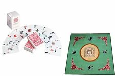 Western Mahjong Table Cover Mah jongg Mahjongg Mat Green /Mah Jong playing cards