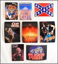Lot Of 8 Hard Rock Metal 80's Stickers Judas Priest Ozzy Ratt Lynyrd Skynyrd DIO