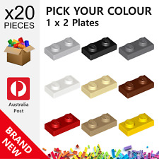20x Genuine LEGO™ - 1 x 2 Plates - 3023 6225 28653 New Plate Parts