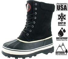 Revenant Men's Waterproof Sherpa Snow Duck Boots Botas de Nieve Men Size 10-11