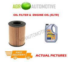 DIESEL OIL FILTER + LL 5W30 ENGINE OIL FOR VOLKSWAGEN CC 2.0 140 BHP 2011-