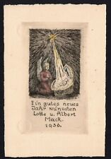 39)Nr.102-EXLIBRIS- PF Albert Mack,1936,  C3- Radierung + koloriert