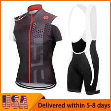 Men 2021 Cycling Jersey Bib Shorts Outfits Shirts Pants Kits Bicycle Cycling Set