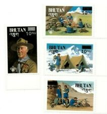 SPECIAL LOT Bhutan 1985 450-3 - Scouting Surcharge - 40 Sets of 4v - MNH
