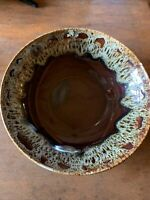 "Canonsburg Drip Glaze Brown 11"" Bowl"