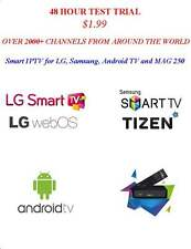 IPTV 48 HOUR SUBSCRIPTION  for Samsung Smart TVs, LG TVs,Android TVs,MAG 250