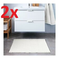 2x IKEA TOFTBO Anti-Slip Microfibre Bath Mat Bathmat Bathroom Rug 40x60 cm White