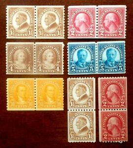 Buffalo Stamps: Scott #598//606 Coil Pairs, Mix MNH-MLH/OG & F/VF-VF