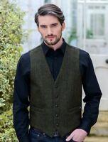 Tweed Waistcoat - Mucros Green Irish Tweed Jacket Made in Ireland