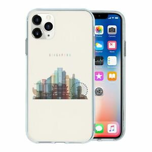 For Apple iPhone 11 PRO Silicone Case Singapore Skyline - S489