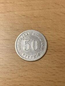 Deutsches Reich, 50 Pfennige 1876 B, fast vorzüglich, J 7