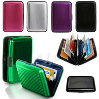 Business ID Credit Card Wallet Holder Aluminum Metal Pocket Waterproof Case Box