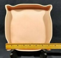 "KT&K CALIFORNIA POTTERY KTK S-11 PEACH 7"" PINCHED CORNERS CHANGE DISH BOWL"