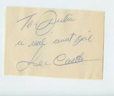 Clipped Autographed Lee Castle American jazz trumpeter and bandleader