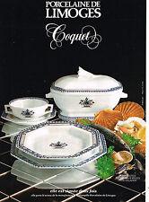 PUBLICITE ADVERTISING 094  1979  PORCELAINE DE LIMOGES COQUET décor VIEUX ROUEN