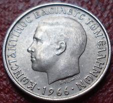 1966 GREECE 1 DRACHMA IN AU CONDITION