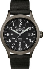 TW4B06900 Timex Expedition Scout Military Indiglo Mens Watch Quartz Black Dial