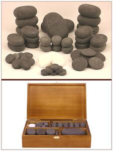 MassageMaster HOT/COLD STONE MASSAGE SET: 50 Basalt/Marble Stones