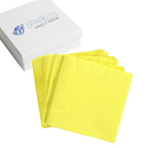 50 2-Ply Paper Napkins - Light Yellow - Cocktail Drink Party Wedding Reception